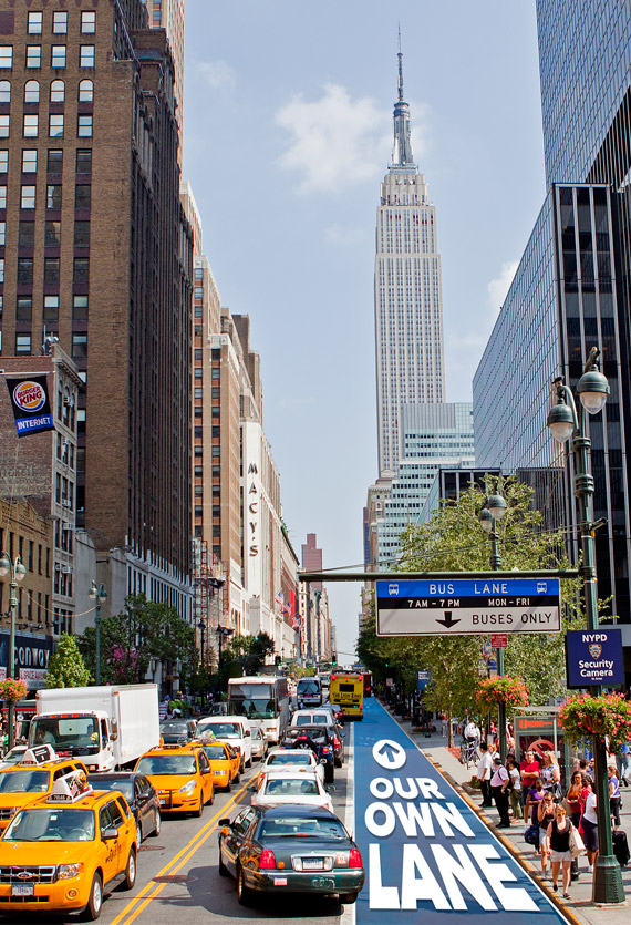 New York Tour Bus Lane