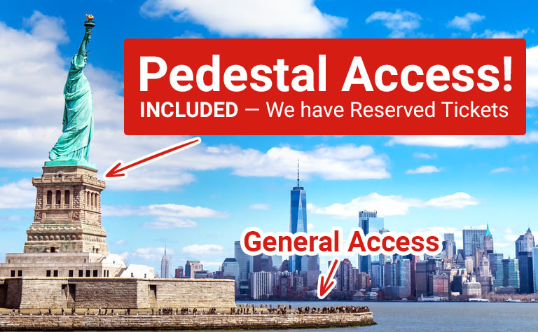 Statue of Liberty Pedestal Access Tickets New York Tours